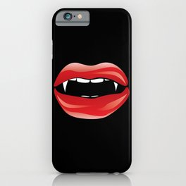 Red vampire lips iPhone Case