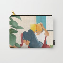 On the pages of a book Carry-All Pouch