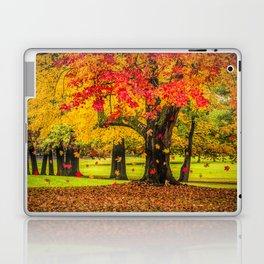 Autumn City Park Scene Laptop & iPad Skin