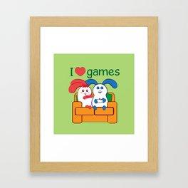 Ernest | Loves games Framed Art Print