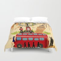 cities Duvet Covers featuring Rainbow Cities ~ London by Evisa Isabella Rose