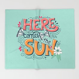 Here Comes The Sun 001 Throw Blanket