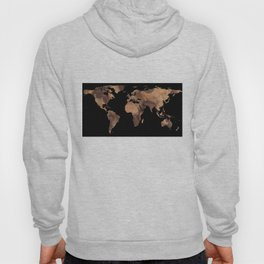 World Map Silhouette - Cookie Hoody
