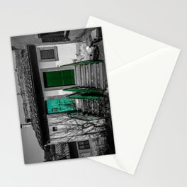 Vintage black and white Italian house Stationery Cards
