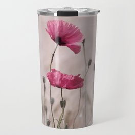 Pink Poppy Travel Mug