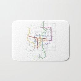 Minneapolis Skyway Map Bath Mat