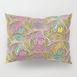Parrots Escher Style Pillow Sham