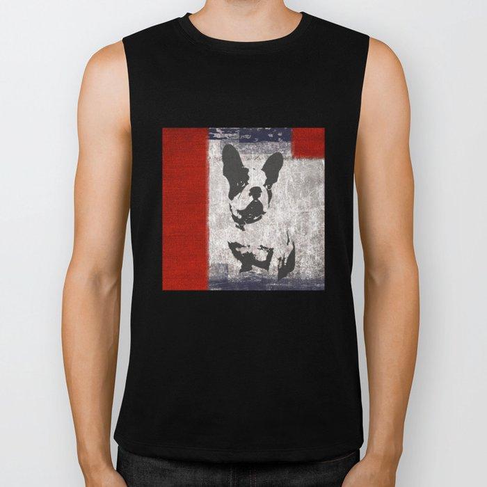 Bull dog red Biker Tank