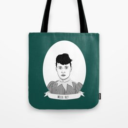 Nellie Bly Illustrated Portrait Tote Bag