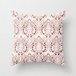Sanguine Vintage Pattern Throw Pillow