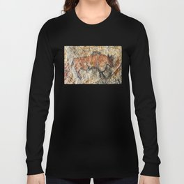 Cave painting in prehistoric style Long Sleeve T-shirt
