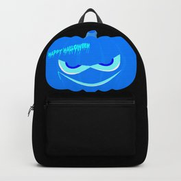 Evil Blue Halloween Pumpkin Backpack