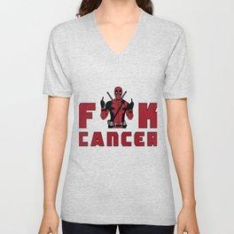 deadpooll fuck cancer Unisex V-Neck