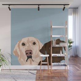 2 Labradors Wall Mural