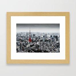Cinereous City Framed Art Print