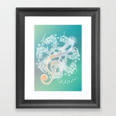 Music Notes - Crystal Framed Art Print