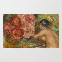 """Auguste Renoir """"Roses et Étude de Gabrielle"""" Rug"""
