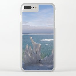 Cave Point Icicle Tree Clear iPhone Case