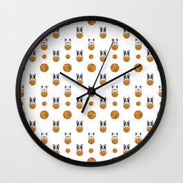 Basketball Pattern | Team Player Dunk Rebound Wall Clock