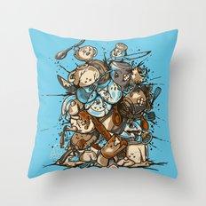 Kitchen Fight Throw Pillow