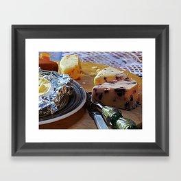 Easter Cheese Plate Framed Art Print