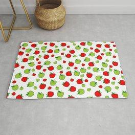 Patrón de manzanas verdes y rojas Rug