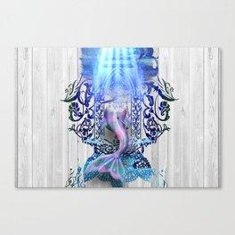 Hunted Mermaid trophy Canvas Print