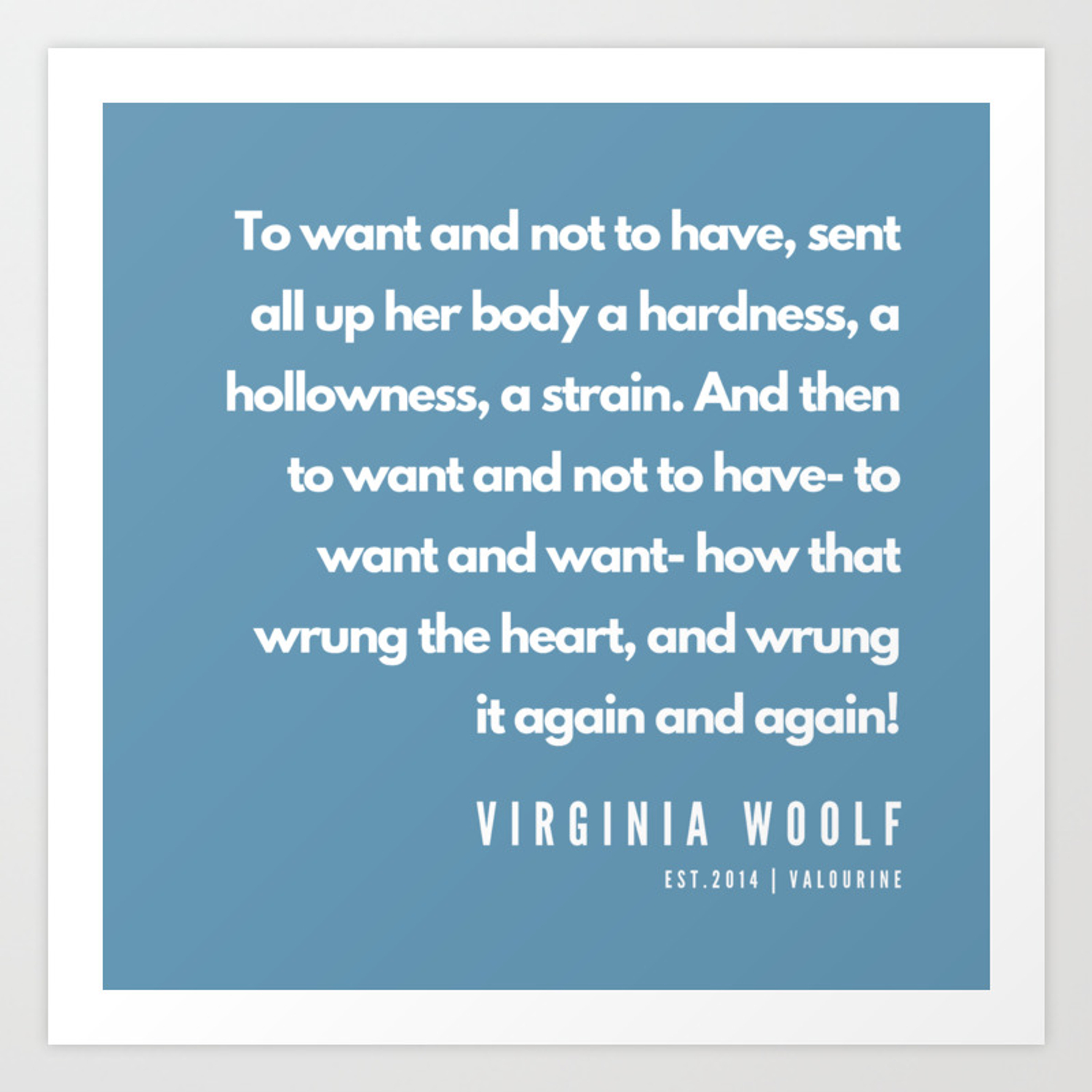 41 Virginia Woolf Quotes 190602 Art Print By Quotesandsayings Society6