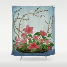 Ikebana Flowers II Shower Curtain