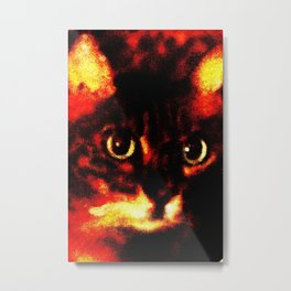 High Color Kitty Metal Print
