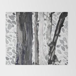 Rainbow Eucalyptus Graffiti artist tree from shedding bark South Pacific Black and White Night Throw Blanket