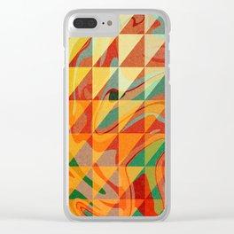 Contemporary Sunny Geometric Design Clear iPhone Case