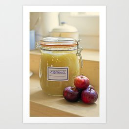 Home made apple sauce Art Print