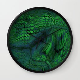 green iguana Wall Clock