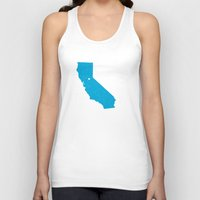 california Tank Tops featuring California by Hunter Ellenbarger