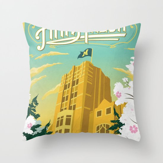 Ann Arbor Union Throw Pillow