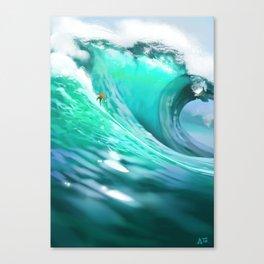 Headless surfer Canvas Print