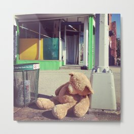 Teddy On the Mean Streets Metal Print