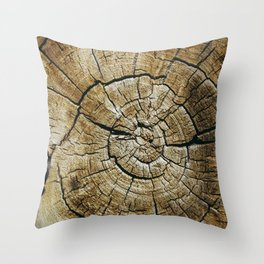 Wood Rings Throw Pillow