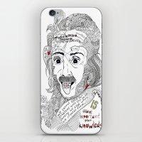 einstein iPhone & iPod Skins featuring Einstein by Ina Spasova puzzle