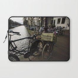 Heineken Bike on the Amsterdam Canals Laptop Sleeve