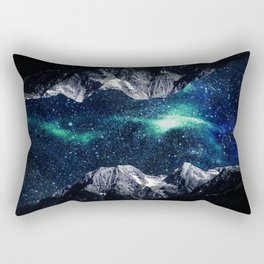 Lost in a world of dreams and mountains Rectangular Pillow