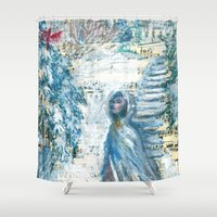 cardinal Shower Curtains featuring Cardinal by Spinning Daydreams