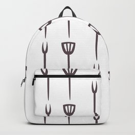 Seamless Pattern with kitchen utensils. Continuos pattern Backpack