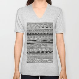Pattern Line Abstract Unisex V-Neck