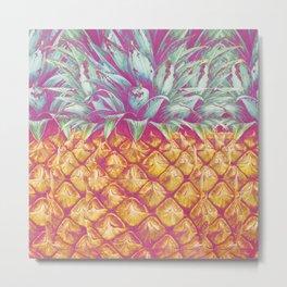 I Adore You, Pineapple Metal Print