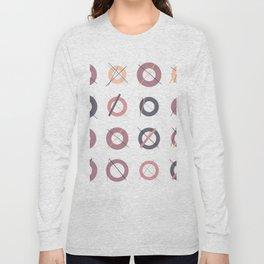 RAND SHAPES #35: Procedural Art Long Sleeve T-shirt