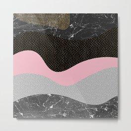 Organic Shapes Metal Print