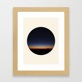 Orange & Blue Sunset Over The Australian Outback Round Photo Framed Art Print
