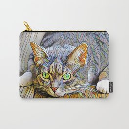 The TABBY II from our FUNK YOUR FELINE line Carry-All Pouch
